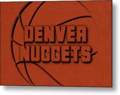 Nuggets Metal Print featuring the photograph Denver Nuggets Leather Art by Joe Hamilton
