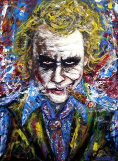 The Joker Actor: The late Heath Ledger,  Canvas,12x16 inches.