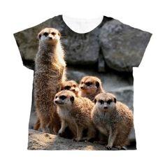#Meerkat021 #Women's All Over Print T-Shirt #JAMFoto #Cafepress.com