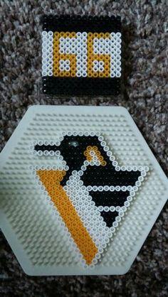 Vintage '95 pittsburgh penguins logo and #66 coaster
