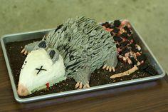 possum cake | photo Redneck Birthday, Redneck Party, Birthday Bash, White Trash Wedding, White Trash Party, White Trash Costume, Redneck Cakes, Trailer Trash Party, Hillbilly Party