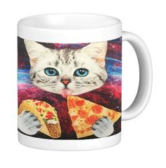 Junk Food Kitty Fast Food Cat 11 ounce Ceramic Coffee Mug Tea Cup by Debbie's Designs >>> Remarkable product available now. : Cat mug