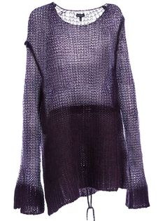 Loose knit, ombre effect, slouchy pullover