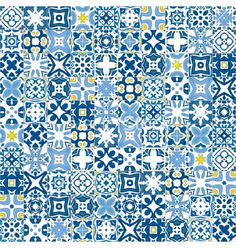 Portuguese tiles vector by nahhan on VectorStock®