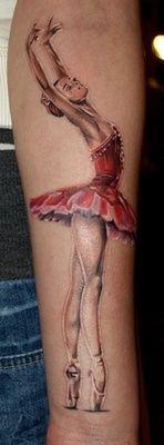 beautiful ballerina tattoo - so lovely
