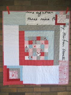 a little gray- i love the randomness of this quilt