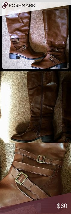 **Wide calf boots** Nowt, beautiful brown boots, open to reasonable offers Shoes Heeled Boots