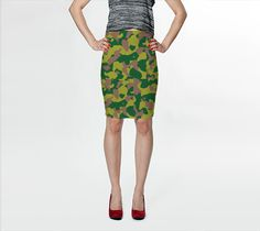 Camouflage bodycon skirt <3