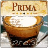 Prima Espresso Coffee Beans.  As the name suggests, our house blend espresso Prima gourmet coffee beans are made from 100% mountain grown Arabica coffee beans. Espresso Prima is a high end medium roasted espresso coffee ideal as a stand-alone coffee drink. Expect a bold intensity with a smooth floral taste.  Find more at https://www.thatscoffee.com/
