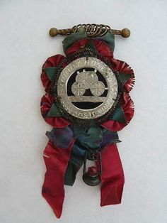 Victorian Liberty Hose Co Williamstown PA Fire Department Award Ribbon Medal   eBay