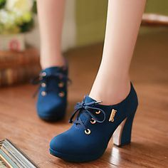 7d909feedce1c Zapatos de mujer - Tacón Plano - Puntiagudos - Oxfords - Casual - Cuero  Sintético - Negro   Azul   Beige   Naranja