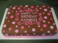 Polka+Dot+Sheet+Cake | ... of pink and the 2 sizes in the polka dots make it really stand out
