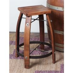 Wine Barrel Stave Stool | Rustic furniture | Wine Barrel ideas