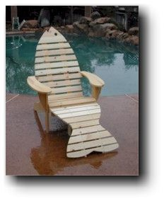 Adirondack Fish Chair & Footrest by GoldCountryWoodworks on Etsy, $25.95