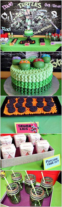 Awesome Teenage Mutant Ninja Turtles party ideas! #tmnt: Awesome Teenage Mutant…