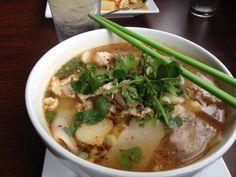 Wide Noodle Soup