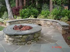 budget fire pit seating wall | back patio | pinterest | fire pit ... - Fire Pit Ideas Patio