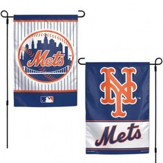 New York Mets Flag 12x18 Garden Style 2 Sided #NewYorkMets