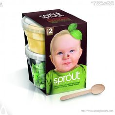 Winner of the 2014 A'Design Awards & Competition: Sprout's range of part-prepared baby food in #plastic #packaging, similar to formats available for adult consumption.