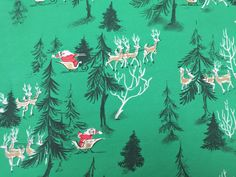Vintage Christmas Wrapping Paper  Santa and by TheGOOSEandTheHOUND