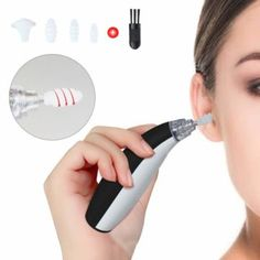 Ear Wax Removal Kit, Spiral Ear Cleaner Tool, Portable Automatic Electric Earwax Tool with LED Light, Easy Soft Prevent Clean with 4 Silicone Spiral Tips, Safe & Comfortable for Adults Kids (Black) Best Ear Wax Removal, Ear Wax Removal Tool, Hair Removal, Cleaning Your Ears, Ear Cleaning, Ear Wax Vacuum, Body Groomer, Small Case, Good Massage