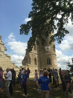 The official open day for the newly-restored Wimpole Folly.