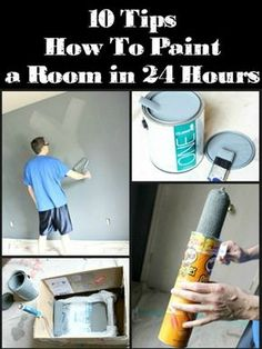 How To Paint a Room - Tips and tricks. Some of these are quite clever!