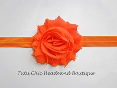 Neon Orange baby headbands, newborn headband, infant headband, toddler headband, childrens headband
