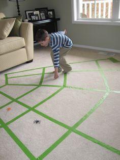 Spider Web Walking gross motor skill game