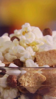 Curl up on the couch for movie night with the perfect sweet and salty snack - Chewy Smores Snack Mix!