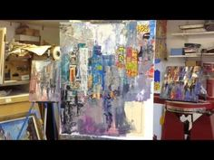 See how I create this vibrant painting of a Tokyo street scene using acrylic and paper collage from start to finish. If you like this video you can see anoth. Art Lessons, Abstract Art Painting, Art Painting, Painting Demonstration, Street Scenes, Art, Canvas Art, Abstract Expressionism Painting, Mixed Media Art Journaling