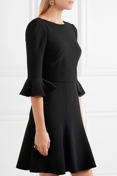 Black stretch-crepe Concealed hook and zip fastening at back  51% viscose, 46% acetate, 3% elastane Dry clean Made in Italy