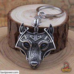 Wolf Talisman Viking Zinc Key Chain Antique Silver, Copper or Black Unisex Bronze, Loki, Viking Sword, Talisman, Jewelry Sets, Unique Jewelry, Norse Vikings, Viking Jewelry, Chains For Men