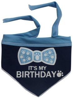 It's My Birthday (Boy) Bandana Scarf in color Blue/White