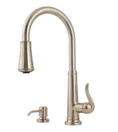 Price Pfister GT529-YPK Ashfield Single Handle Pull Down Kitchen Faucet - Brushed Nickel