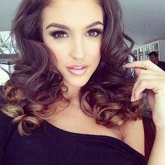 Makeup and bouncy curls