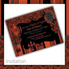 Halloween Invitation . PRINTABLE . Victorian Howl ~ $20.00 ~ printable halloween invite, printable halloween invitation, halloween invite, halloween invitation, halloween party, do it yourself halloween, printable halloween, Halloween, scary invite, scary invitation, Victorian halloween, damask halloween, black & orange invite, black & orange invitation, damask invite #halloweeninvitation #halloweenparty #spookyhalloween ~ https://www.etsy.com/listing/80273989