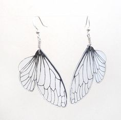 Cicada wing dangle earrings on Etsy, $18.00