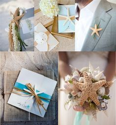 A Beach Wedding For Summer beach wedding decorations...just change up the color theme for the fall, super cute.
