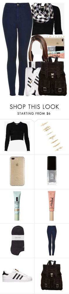 """""""Sem título #664"""" by eduardafrancisca69 ❤ liked on Polyvore featuring Torn by Ronny Kobo, Forever 21, Speck, JINsoon, Clinique, Too Faced Cosmetics, Calvin Klein, Topshop, adidas and Proenza Schouler"""