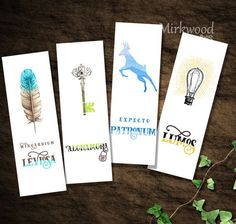 Printable Harry Potter Bookmarks Wizard por MirkwoodScribes