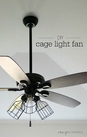 Crazy Wonderful: DIY cage light ceiling fan