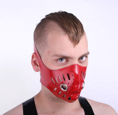 Red Latex Bike Mask - Regulation London