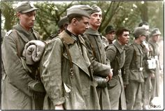 """On the morning of the 8th of May 1945 (approx 10.00) twelve French SS troops belonging to the 33rd Waffen-Grenadier-Division der SS """"Charlemagne"""" (French No. l) surrendered without a fight to American troops in Bavaria, who immediately handed them over to 2ème Division Blindée de les Forces François Libres (2nd Free French Armoured Division) under General Leclerc."""