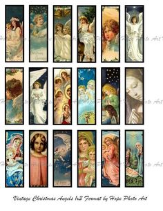 Vintage Angels 1x3 for microscope slides
