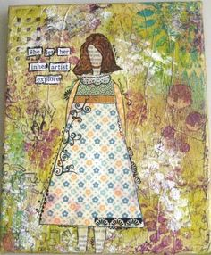 """My first """"She Art"""" inspired girl - made after taking Christy Tomlinson's online class."""