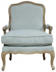 Block & Chisel blue lounge chair