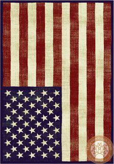 Flag USA  Vintage Carpet. Category: modern. Brand: HeavenRugs.