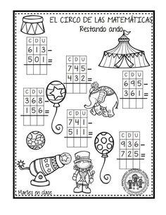 EXCELENTE CUADERNO PARA TRABAJAR UNA SEMANA EL CIRCO DE LAS MATEMÁTICAS - Imagenes Educativas Worksheets For Kids, Math Worksheets, Math Activities, Math 2, Fun Math, School Suplies, Math Sheets, Dual Language, Busy Book