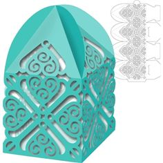 Silhouette Design Store: box tent top swirls